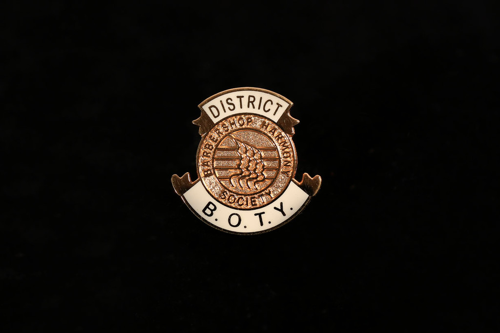 District Barbershoppper of the Year Lapel Pin (BOTY)
