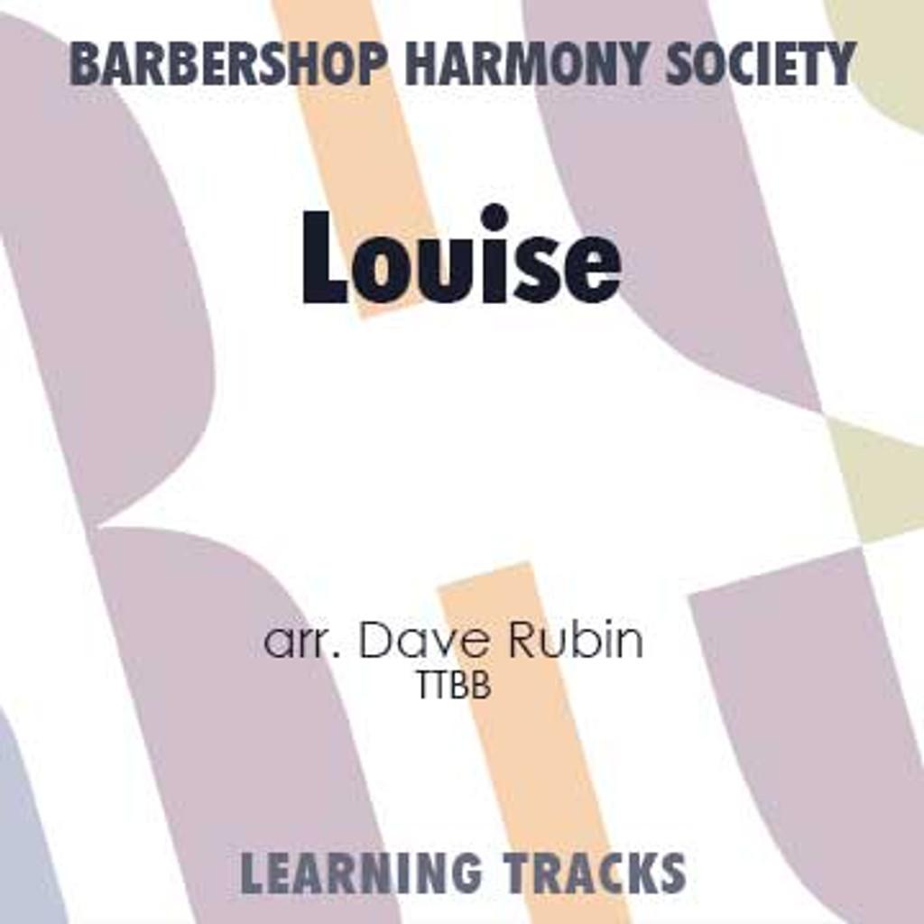 Louise (TTBB) (arr. Rubin) - CD Learning Tracks for 7368