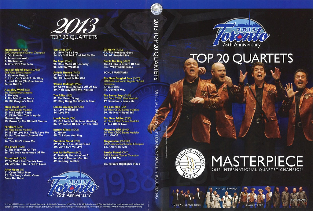 2013 Toronto Quartet DVD