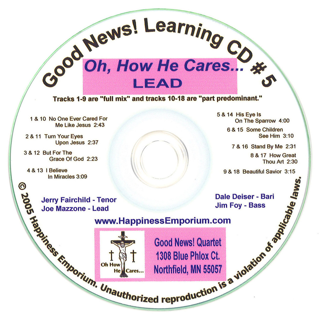 Good News Gospel Learning CD #5 Oh, How He Cares Lead