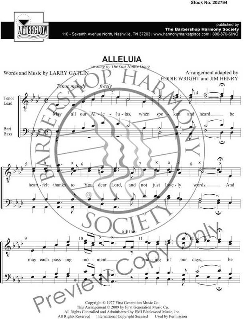 Alleluia (TTBB) (arr. Henry)