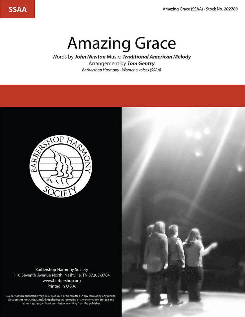 Amazing Grace (SSAA) (arr. Gentry)