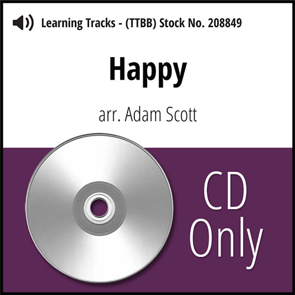 Happy (TTBB) (arr. Scott) - CD Learning Tracks for 208848