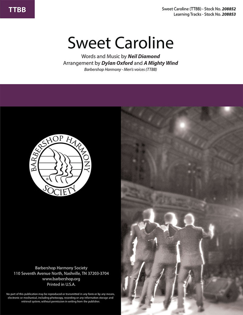 Sweet Caroline (TTBB) (arr. Oxford & A Mighty Wind)