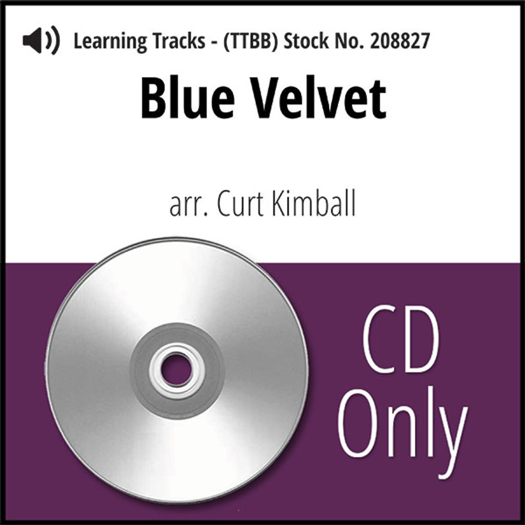 Blue Velvet (TTBB) (arr. Kimball) - CD Learning Tracks for 208826