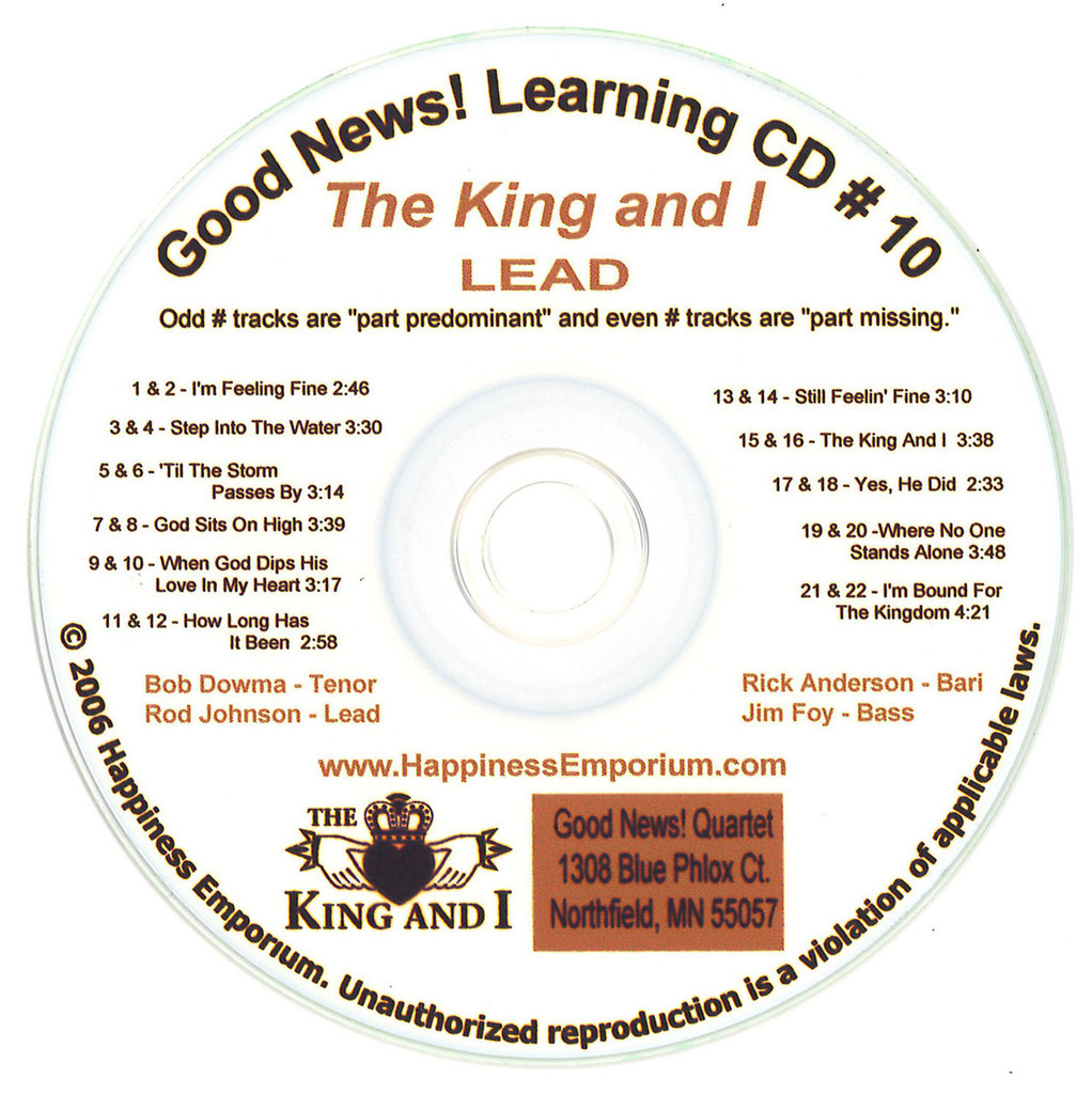 Good News Gospel Learning CD #10 The King and I Lead