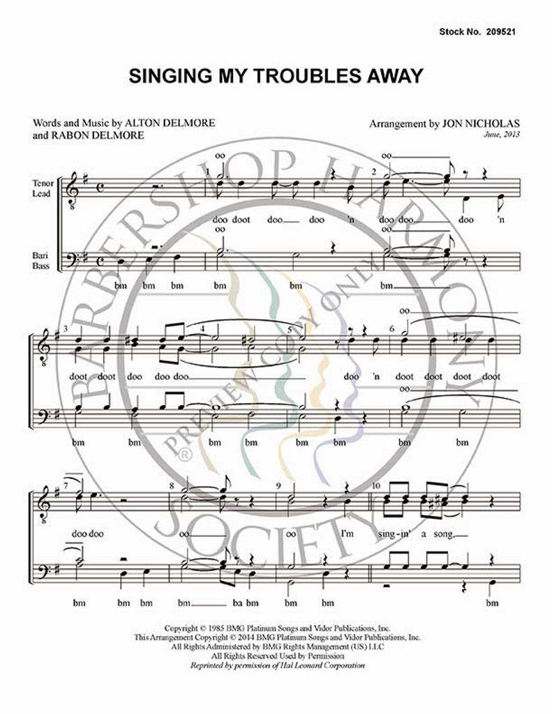 Singing My Troubles Away-Download-UNPUB