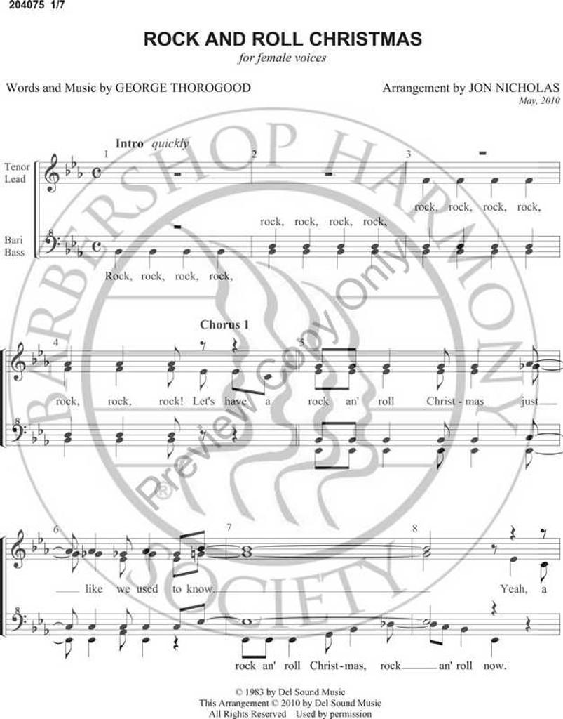 Rock And Roll Christmas (SSAA) (arr. Jon Nicholas)-Download-UNPUB