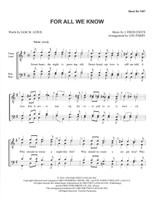 For All We Know (TTBB) (arr. Perry)