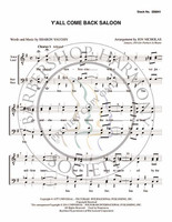 Ya'll Come Back Saloon (TTBB) (arr. Jon Nicholas)-Download-UNPUB