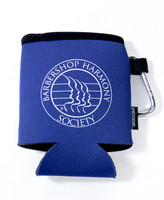 "Perfect for after glows, quartet rehearsals, or tailgate parties.  The carabiner clip is attachable so you can connect your cooler and keys to your cooler bag or folding chair.  Carabiner clip also detachable.  Collapsible design  Heavy-duty polyester with foam liner keeps beverages cooler longer.  Size: 5 1/4"" x 3 7/8""  Available in Royal Blue."