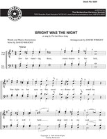 Bright Was The Night (TTBB) (arr. Wright) - Download