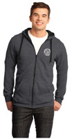 Full-zip Hoodie - Charcoal with BHS Logo