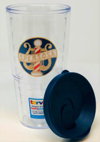 Available in 2 Styles: BHS Logo or Vintage SPEBSQSA logo  Tervis 24 oz tumbler keeps hot drinks hot and cold drinks cold.  Co-polyester BPA and Melamine free construction  Microwave, freezer, & dishwasher safe  Made in America  Features an embroidered SPEBSQSA and BHS patch logo sealed inside the tumbler for long-lasting enjoyment.