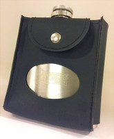 Both personal and professional, this flask provides a nice, but elegant touch to any attire.    Made with a brushed silver finish.   Designed as a smaller travel commodity than the two other options we offer and carry for flasks.   Also features a BHS logo, but the simpler not-so-colorful version, and includes a convenient leather cover with carrying strap for easy travelling and storage.   Size: holds 6 oz.     On Sale $16 Member Price  Was $22