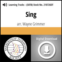 Sing (SATB) (arr. Grimmer) - Digital Learning Tracks for 210466