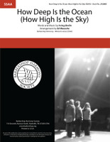 How Deep Is the Ocean (How High Is the Sky) (SSAA) (arr. Waesche)