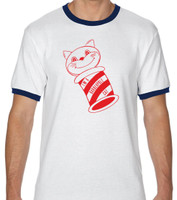 Barberpole Cat Ringer Tee