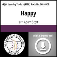 Happy (TTBB) (arr. Scott) - Digital Learning Tracks - for 208848
