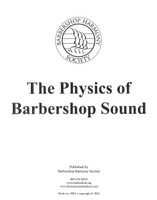 The Physics Of Barbershop Sound