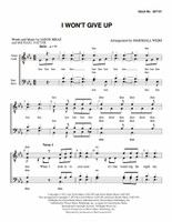 I Won't Give Up (TTBB) (arr. Webb) - Download