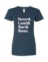 Tenor & Lead & Bari & Bass T-shirt - Ladies