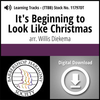It's Beginning to Look Like Christmas (TTBB) (arr. Diekema) - Digital Learning Tracks for 7009