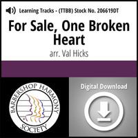 For Sale, One Broken Heart (TTBB) (arr. Hicks) - Digital Learning Tracks for 206616