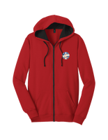 Full-zip Hoodie - Red with SPEBSQSA logo