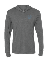 FrontA sleek and stylish hoodie branded with the Afterglow Brewing Co. logo that is a great addition to any wardrobe.   This hoodie is lightweight and incredibly soft with great drape, stretch, and recovery.     Details:  Fabric: Tri-Blend Jersey 50% Polyester 25% Combed Ring-Spun Cotton 25% Rayon / 32 singles, 145 grams/4.3oz. Neck: Hoody Binding: Side seamed. 1x1 tri-blend baby rib cuffs. Three piece, single layer hood.   This hoodie is a part of the Afterglow Brewing Co. merchandise.