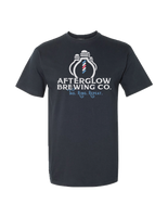 Headed to a tailgate? The new Afterglow Brewing Co. Pop Top Tee is an innovative take on a T-shirt that has a twist... A bottle opener built in to the shirt!  This 100% cotton shirt is an ultra-soft piece that will work well in any wardrobe.     Details:  100% cotton unisex shirt 1x1 rib-knit collar Metal bottle opener affixed to bottom right hem   This garment is a part of the Afterglow Brewing Co. merchandise