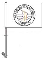 Show the whole town your love of harmony with our new Car Flags! Each flag can be flown from any standard car window.  These flags come with the modern Barbershop Harmony Society logo, or the classic S.P.E.B.S.Q.S.A. logo.
