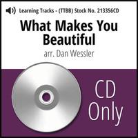 What Makes You Beautiful (TTBB) (arr. Dan Wessler) - CD Learning Tracks for 213355