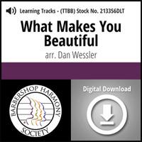 What Makes You Beautiful (TTBB) (arr. Dan Wessler) - Digital Learning Tracks for 213355
