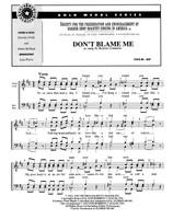 Don't Blame Me (TTBB) (arr. Perry) - Download