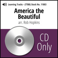 America The Beautiful (TTBB) (arr. Hopkins) - CD Learning Tracks for 7340
