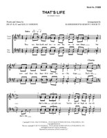 That's Life (SSAA) (arr. BHS)