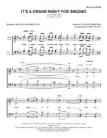 It's a Grand Night for Singing (TTBB) (arr. Rupay) - Download