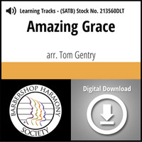 Amazing Grace (SATB) (arr. Gentry) - Digital Learning Tracks  for 213559