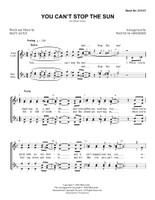 You Can't Stop the Sun (SSAA) (arr. Grimmer) - Download