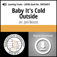 Baby It's Cold Outside (8-part M/W) (arr. Bescos) - Digital Learning Tracks for 209255