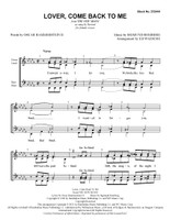 Lover, Come Back to Me (SSAA) (arr. Waesche) - Download