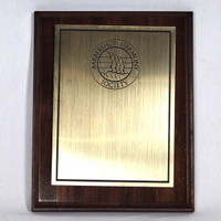Walnut Plaque with Brass Plate
