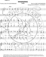 Whispering 1 (TTBB) (arr. Robert Standley)-UNPUB