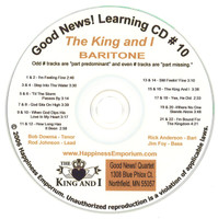 Good News Gospel Learning CD #10 The King and I Baritone
