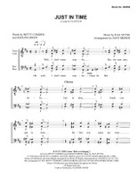 """Just In Time (from """"Bells Are Ringing"""") (TTBB) (arr. Dave Briner)"""