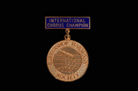 1st Place Champion Int'l Chorus Medallion