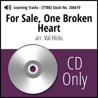 For Sale, One Broken Heart (TTBB) (arr. Hicks) - CD Learning Tracks for 206616