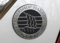 Our chrome metallic BHS emblem for your car, laptop, or window is a great way to show your affiliation with the Barbershop Harmony Society.  Emblem is made of plastic with chrome paint finish that easily sticks to any surface.  Weather proof.