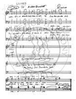 New Quartet (TTBB) (arr. Joe Liles)-UNPUB